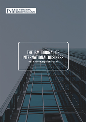 ism journal of international business v3 issue 1 cover