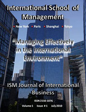ism journal of international business v1 issue 1 cover