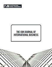 ism journal of international business v2 issue 1 cover