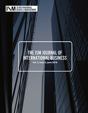 ism journal of international business v2 issue 2 cover